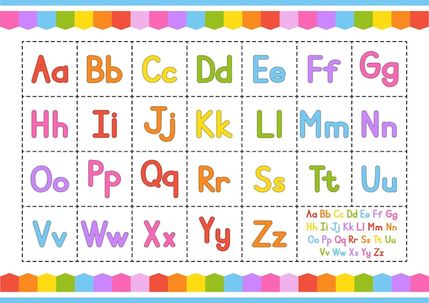 英語アルファベットベクトルセット