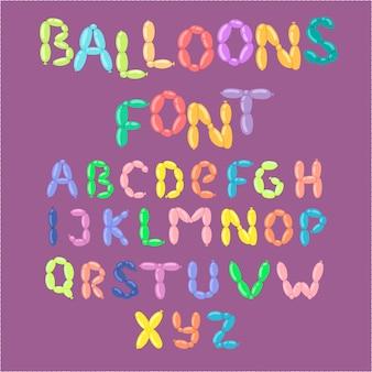 English balloon colorful alphabet  holidays party abc and education ozone type greeting helium cartoon festive decoration illustration.