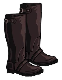 Английские охотничьи ботинки с застежками и кожей