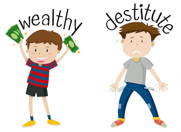 富と貧困の逆の言葉