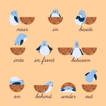 English prepositions for kids