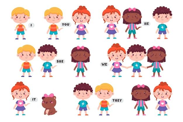 Preposizioni inglesi per bambini