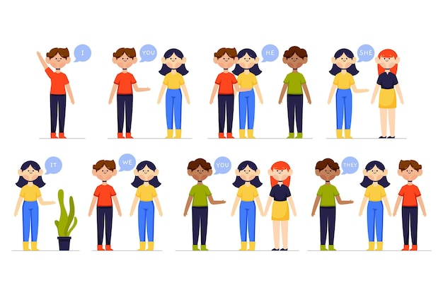 子供のための英語の主語代名詞