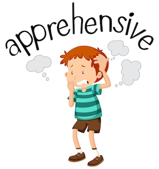 English vocabulary of apprehensive