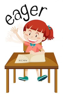English vocabulary of eager