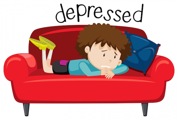 English vocabulary word of depressed