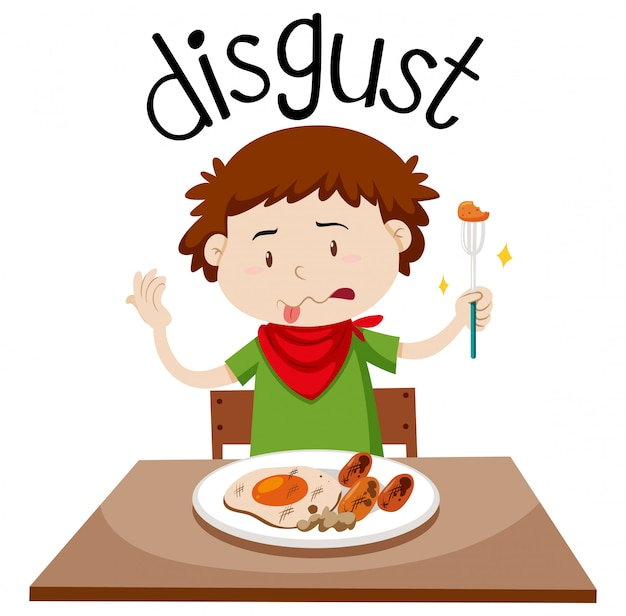 English vocabulary word disgust