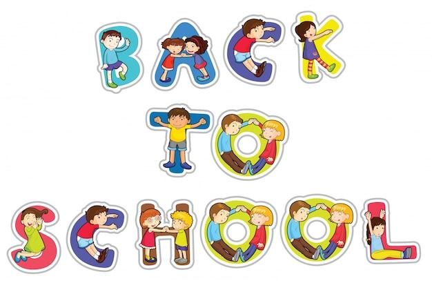 English word back to school