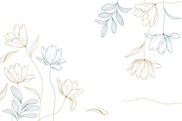 Engraving floral background