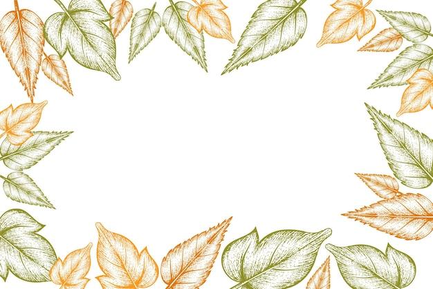 手描きの紅葉の背景を刻む