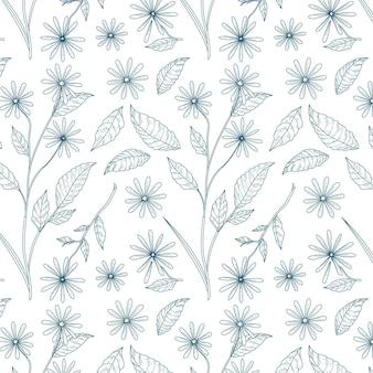 Гравюра рисованной ботанический узор