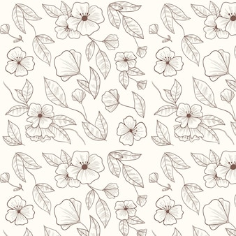 Modello botanico disegnato a mano di incisione