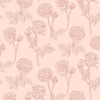 손으로 그린 식물 패턴 조각