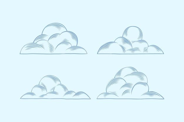 조각 손으로 그린 구름 컬렉션