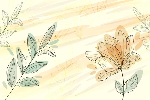 Fondo floreale disegnato a mano dell'incisione