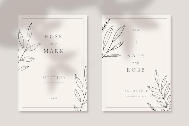 Гравюра рисованной цветочные свадебные приглашения шаблон