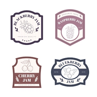 Engraving hand drawn jam badges