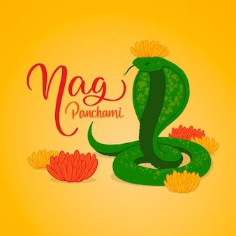 조각 손으로 그린 nag panchami 그림