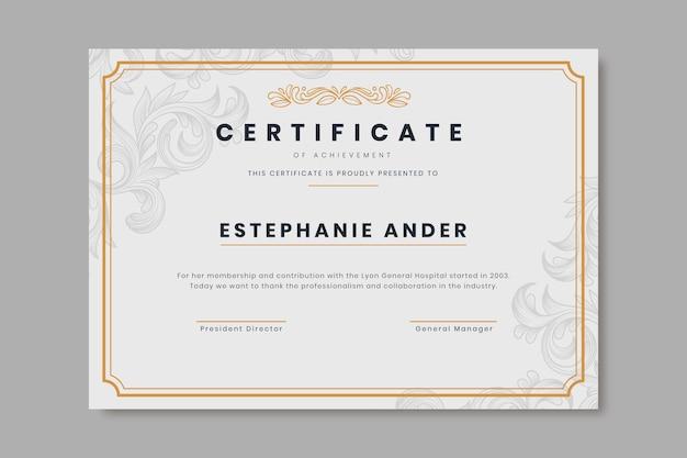Гравировка рисованной декоративный шаблон сертификата