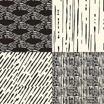 手描きのパターンコレクションを彫刻