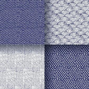 손으로 그린 패턴 컬렉션 조각 무료 벡터