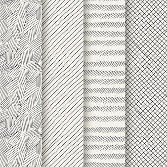 Engraving hand drawn pattern collection
