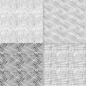 Engraving hand drawn pattern collection Free Vector