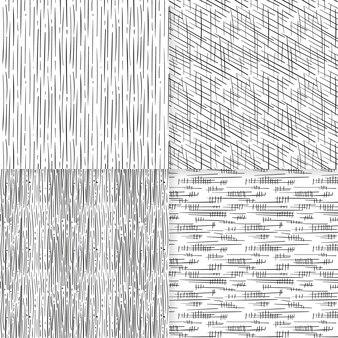 손으로 그린 패턴 컬렉션 조각