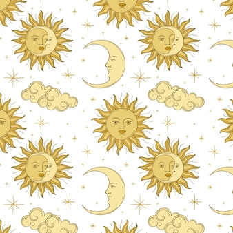 Гравюра рисованной картины солнца