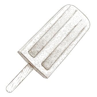 Engraving  illustration of popsicle