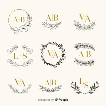 Engraving template collection for wedding