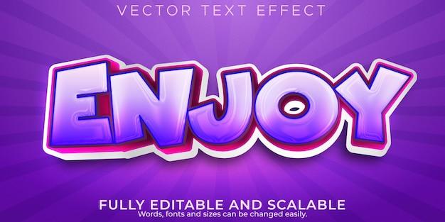 Enjoy cartoon text effect, editable comic and school text style