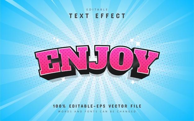 Enjoy comic style text effect