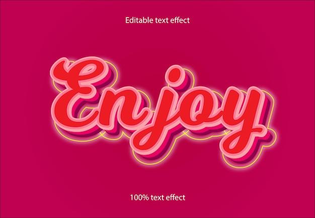 Наслаждайтесь редактируемым текстовым эффектом