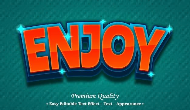 글꼴 스타일 효과 즐기기