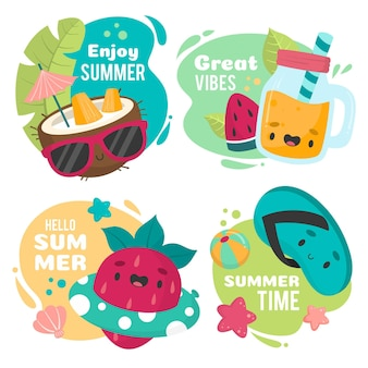 Enjoy great vibes in summer badges