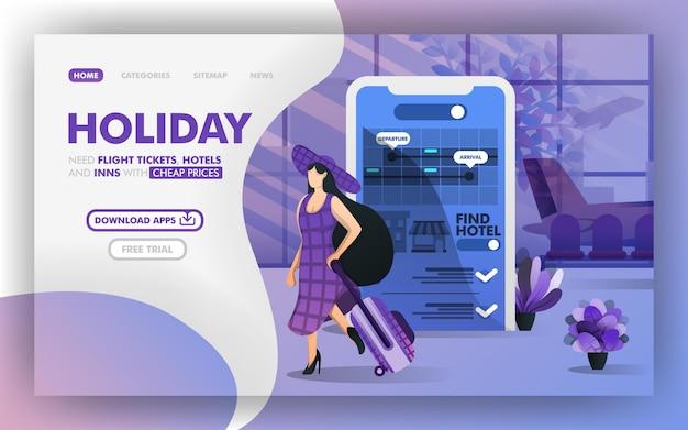 Enjoy holiday and flight