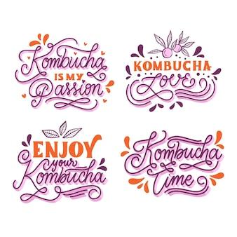Enjoy the kombutcha tea lettering