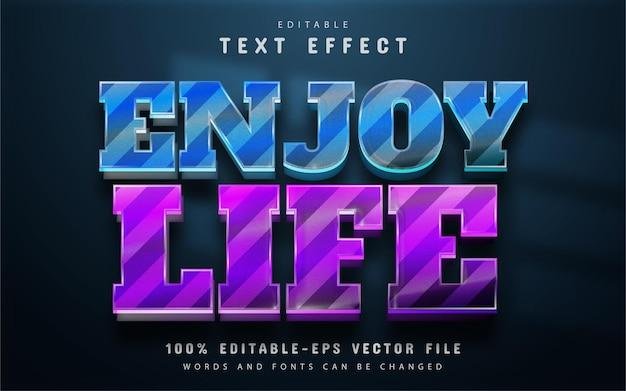 Enjoy life text effect editable