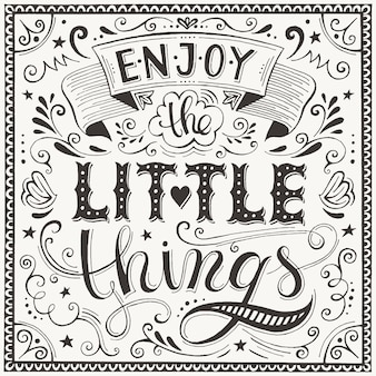 Enjoy the little things lettering card