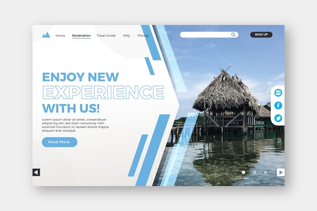 Enjoy new experiences landing page