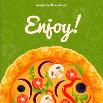 Enjoy pizza background