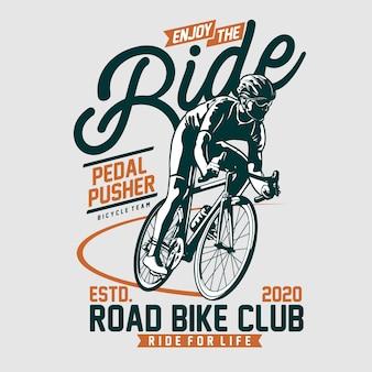 Enjoy the ride illustration