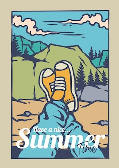 Enjoy summer adventure on the mountain with sneakers
