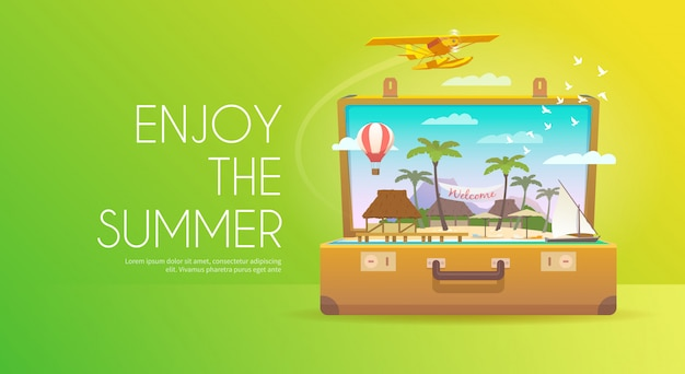 Enjoy the summer. banner.
