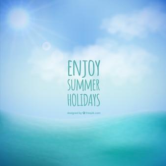 夏休みの背景をお楽しみください 無料ベクター