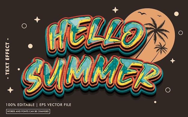 Enjoy summer text effect style