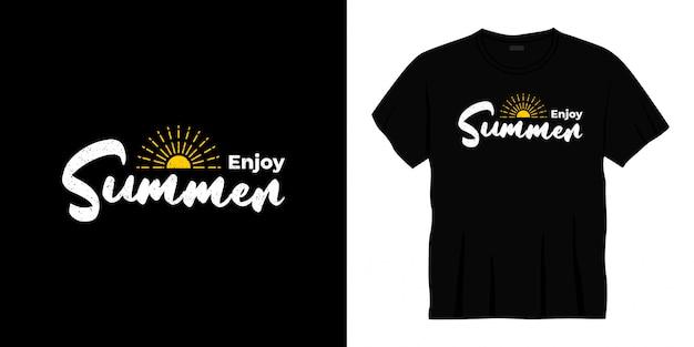 Наслаждайтесь летним дизайном футболки