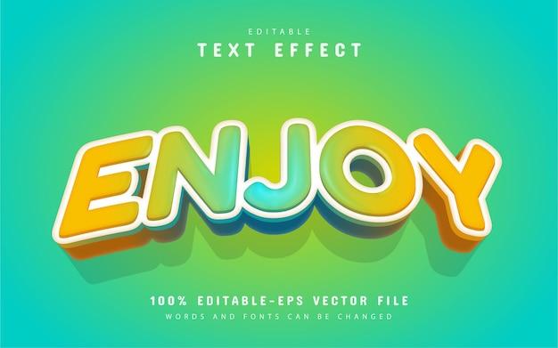 Enjoy text effect cartoon style