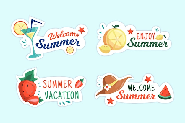 최고의 여름 휴가 배지 컬렉션을 즐기십시오